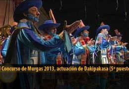 Actuación de Dakipakasa (5º puesto Final 2013)