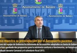 Fragoso muestra su preocupación por el Aeropuerto pacense