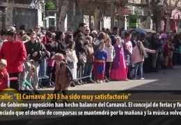 """De la calle: """"El Carnaval 2013 ha sido muy satisfactorio"""""""