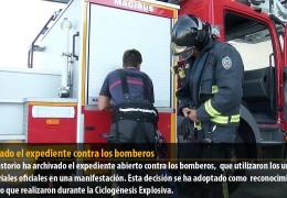 Archivado el expediente contra los bomberos