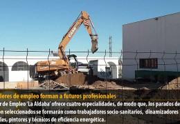 Los talleres de empleo forman a futuros profesionales