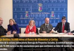 Ibercaja destina 10.000 euros al Banco de Alimentos y Cáritas