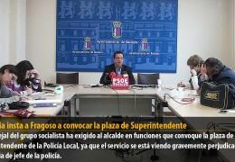 Segovia insta a Fragoso a convocar la plaza de Superintendente