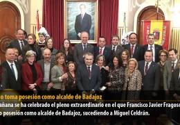 Fragoso toma posesión como alcalde de Badajoz