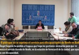 El GMS-R pide que no se suprima el servicio para discapacitados de Renfe en Badajoz