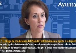 """Solana: """"El pliego de condiciones del Plan de Fortificaciones se ajusta a la legalidad"""""""