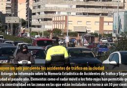 Disminuyen un seis por ciento los accidentes de tráfico en la ciudad