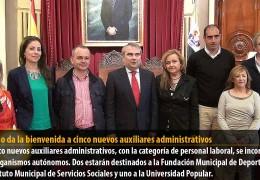 Fragoso da la bienvenida a cinco nuevos auxiliares administrativos