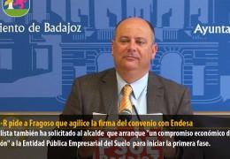 El GMS-R pide a Fragoso que agilice la firma del convenio con Endesa