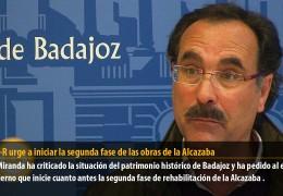 El GMS-R urge a iniciar la segunda fase de las obras de la Alcazaba