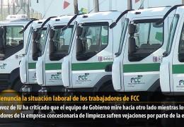 Sosa denuncia la situación laboral de los trabajadores de FCC