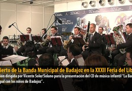 Concierto de la Banda Municipal de Badajoz en la XXXII Feria del Libro
