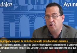 Segovia propone un plan de embellecimiento para Carolina Coronado
