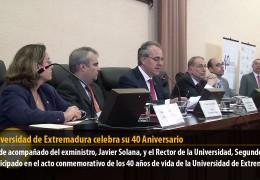La Universidad de Extremadura celebra su 40 Aniversario