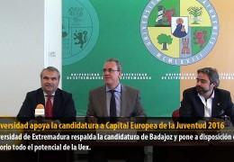 La Universidad apoya la candidatura a Capital Europea de la Juventud 2016