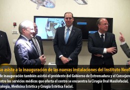 Fragoso asiste a la inauguración de las nuevas instalaciones del Instituto Neofacial