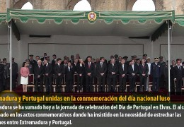 Extremadura y Portugal unidas en la conmemoración del día nacional luso