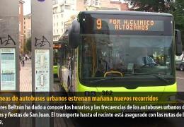 Dos líneas de autobuses urbanos estrenan mañana nuevos recorridos