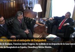 El alcalde  se reúne con el embajador de Bangladesh