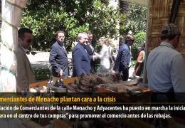 Los comerciantes de Menacho plantan cara a la crisis