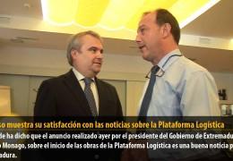 Fragoso muestra su satisfacción con las noticias sobre la Plataforma Logística