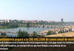 El ayuntamiento pagará a la CHG 492.330€ de canon anual de vertidos