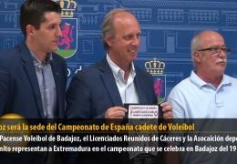 Badajoz será la sede del Campeonato de España cadete de Voleibol