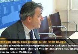 El Ayuntamiento aprueba nueve proyectos para los fondos del Aepsa