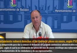 El Ayuntamiento vulneró derechos al no convocar pleno en enero, según PSOE