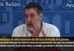 Sosa denuncia el cobro incorrecto del IBI en la Dehesilla de Calamón