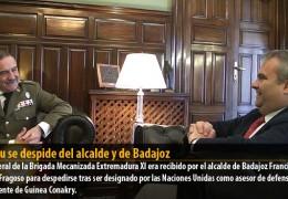 Otazu se despide del alcalde y de Badajoz