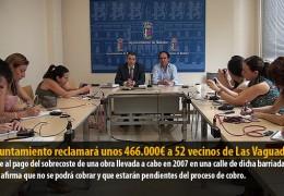 El Ayuntamiento reclamará unos 466.000€ a 52 vecinos de Las Vaguadas