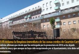 El GMS-R reclama la limpieza inmediata de las zonas verdes de Cuartón Cortijo