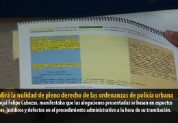 IU pedirá la nulidad de pleno derecho de las ordenanzas de policía urbana