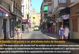 La calle Guardia Civil pasará a ser plataforma única de uso mixto