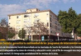Servicios Sociales garantiza la continuidad de los  programas de intervención social