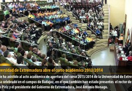 La Universidad de Extremadura abre el curso académico 2013/2014