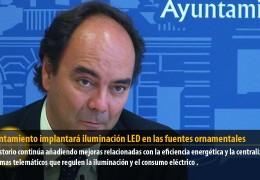 El Ayuntamiento implantará iluminación LED en las fuentes ornamentales