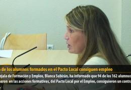 El 58% de los alumnos formados en el Pacto Local consiguen empleo