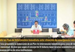 Sosa pide un Plan de Intervención Inmediata ante situación de emergencia social