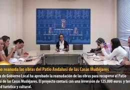 Turismo reanuda las obras del Patio Andalusí de las Casas Mudéjares