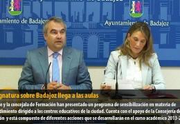 La asignatura sobre Badajoz llega a las aulas