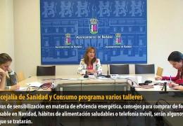 La concejalía de Sanidad y Consumo programa varios talleres