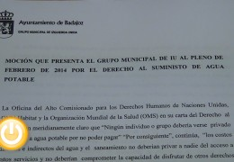 IU pedirá que no se corte el agua a familias en riesgo de exclusión