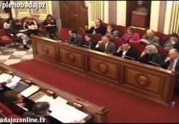 Pleno ordinario de febrero de 2014 del Ayuntamiento de Badajoz