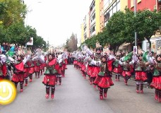 Desfile de comparsas del Carnaval de Badajoz 2014
