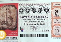 El Milenio del Reino de Badajoz ilustra el décimo de la Lotería Nacional del próximo 8 de marzo