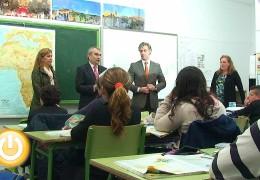 El alcalde visita el colegio Lope de Vega