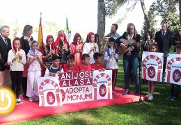 Un colegio de la ciudad  adopta la Alcazaba