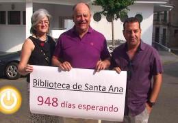 PSOE lamenta que se haya abierto Santa Ana con 948 días de retraso
